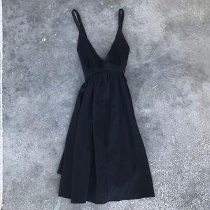 Black A line Jumper Dress